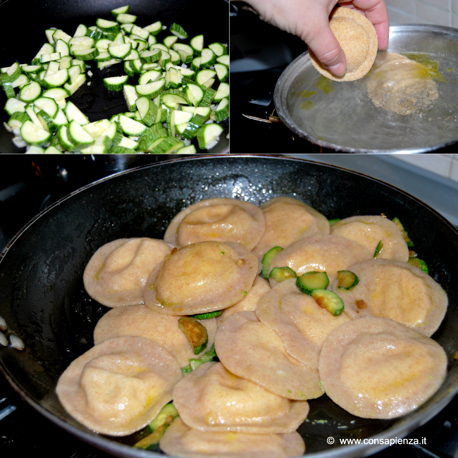 cuocere e condire i tortelloni