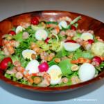 insalata di gamberi e avocado