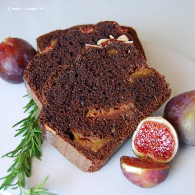 Plumcake fichi cioccolato e rosmarino