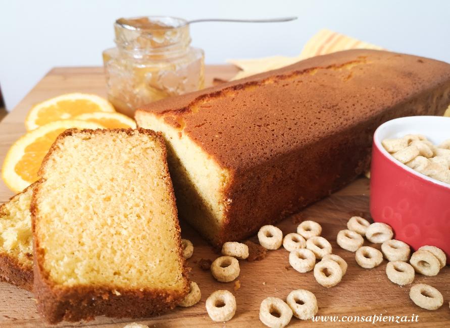 Plumcake all'arancia senza glutine